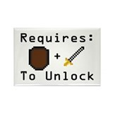 Requires: Shield and Sword Rectangle Magnet