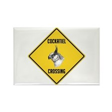 Cockatiel Crossing Sign Rectangle Magnet