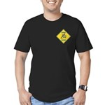 Blue Jay Crossing Sign Men's Fitted T-Shirt (dark)