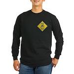 Blue Jay Crossing Sign Long Sleeve Dark T-Shirt