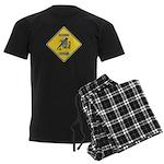 Blue Jay Crossing Sign Men's Dark Pajamas