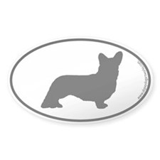 Cardigan Corgi SILHOUETTE Oval Decal
