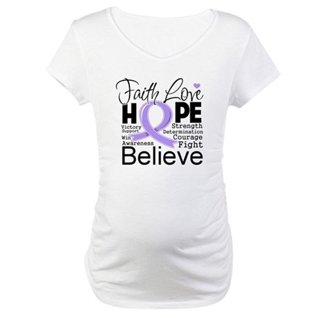 Faith Hope General Cancer Maternity T-Shirt