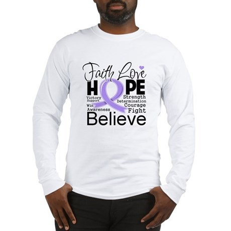 Faith Hope General Cancer Long Sleeve T-Shirt