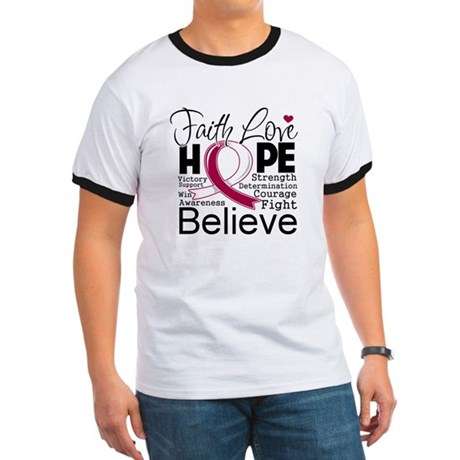 Faith Hope Head Neck Cancer Ringer T