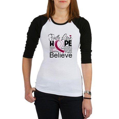 Faith Hope Head Neck Cancer Jr. Raglan