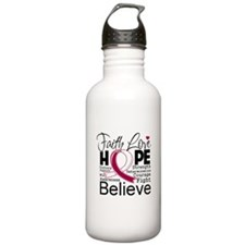 Faith Hope Head Neck Cancer Water Bottle