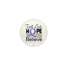 Faith Hope Hodgkins Disease Mini Button (100 pack)