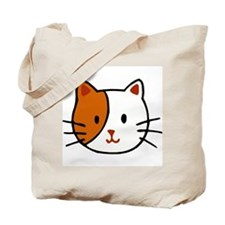 Calico Cat Cartoon Tote Bag