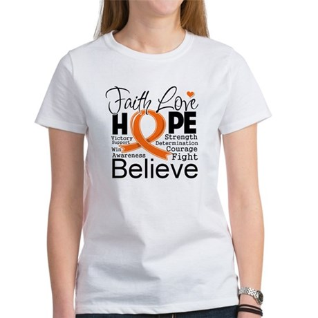 Faith Hope Kidney Cancer Women's T-Shirt
