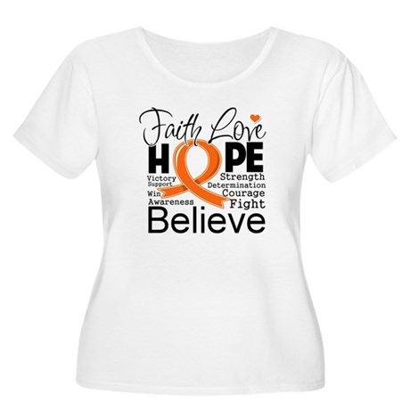 Faith Hope Kidney Cancer Women's Plus Size Scoop N