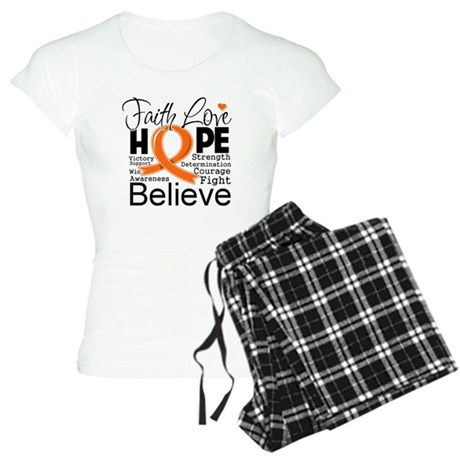 Faith Hope Kidney Cancer Women's Light Pajamas