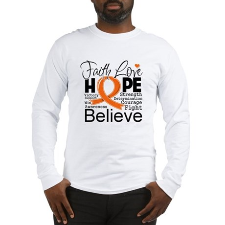 Faith Hope Kidney Cancer Long Sleeve T-Shirt