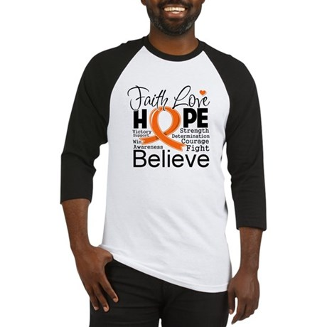 Faith Hope Kidney Cancer Baseball Jersey