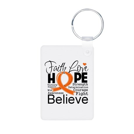 Faith Hope Kidney Cancer Aluminum Photo Keychain