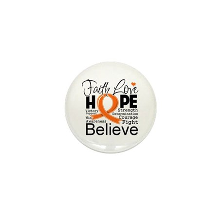 Faith Hope Kidney Cancer Mini Button (10 pack)