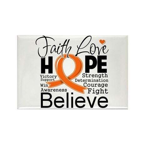 Faith Hope Kidney Cancer Rectangle Magnet (100 pac