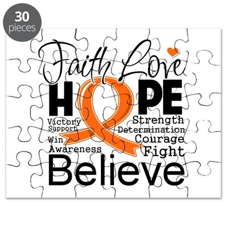 Faith Hope Kidney Cancer Puzzle