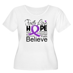 Faith Hope Leiomyosarcoma Women's Plus Size Scoop