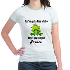 Kiss a lot of Frogs Junior Ringer T-Shirt