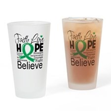 Faith Hope Liver Cancer Drinking Glass