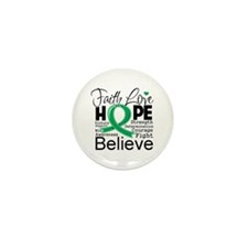 Faith Hope Liver Cancer Mini Button (10 pack)