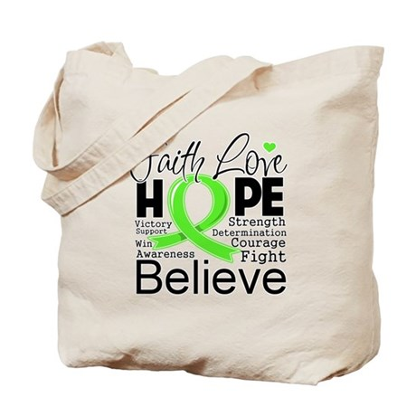 Faith Hope Lymphoma Tote Bag