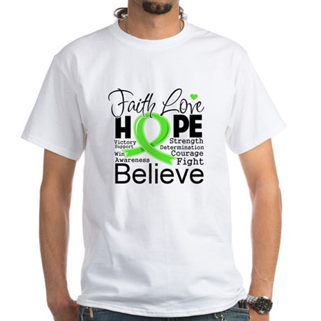 Faith Hope Lymphoma White T-Shirt
