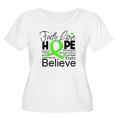 Faith Hope Lymphoma Women's Plus Size Scoop Neck T