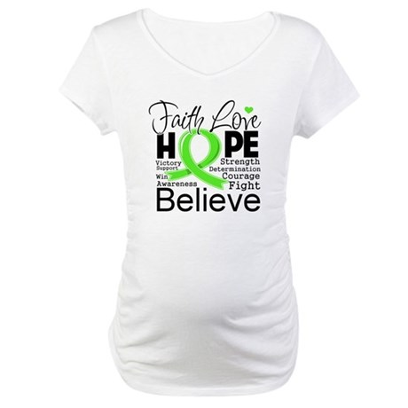 Faith Hope Lymphoma Maternity T-Shirt