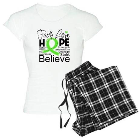 Faith Hope Lymphoma Women's Light Pajamas