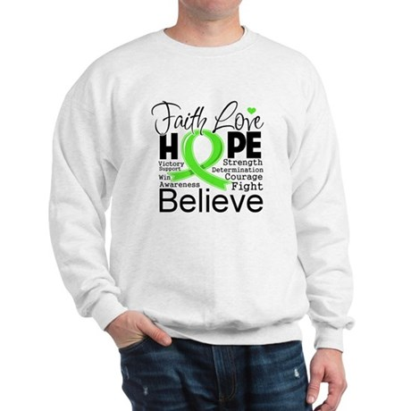 Faith Hope Lymphoma Sweatshirt