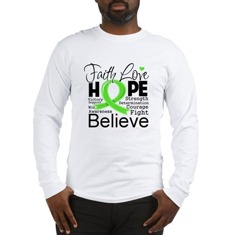 Faith Hope Lymphoma Long Sleeve T-Shirt