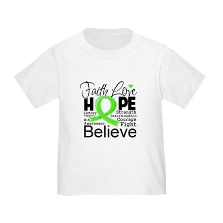 Faith Hope Lymphoma Toddler T-Shirt