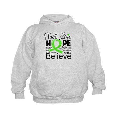Faith Hope Lymphoma Kids Hoodie