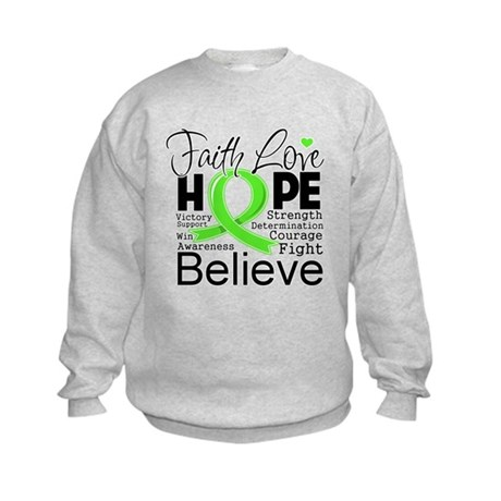 Faith Hope Lymphoma Kids Sweatshirt