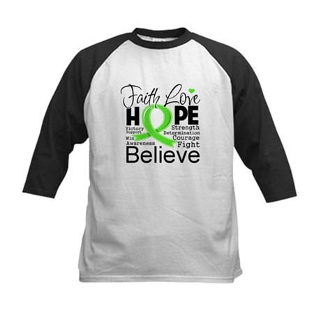 Faith Hope Lymphoma Kids Baseball Jersey