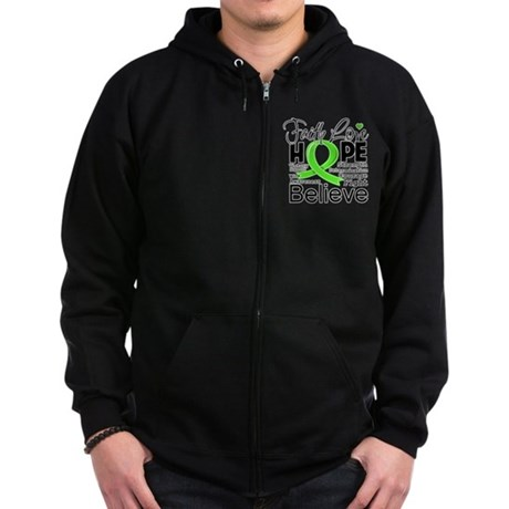 Faith Hope Lymphoma Zip Hoodie (dark)