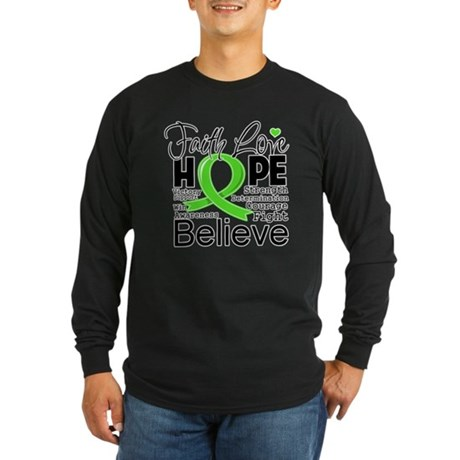 Faith Hope Lymphoma Long Sleeve Dark T-Shirt