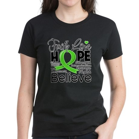 Faith Hope Lymphoma Women's Dark T-Shirt