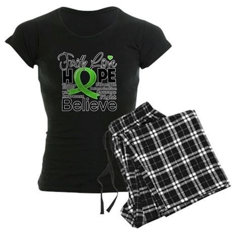 Faith Hope Lymphoma Women's Dark Pajamas