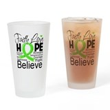 Faith Hope Lymphoma Drinking Glass