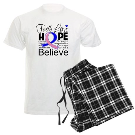 Faith Hope Male Breast Cancer Men's Light Pajamas