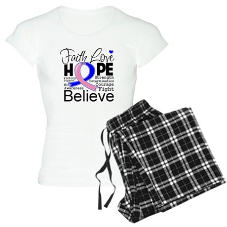 Faith Hope Male Breast Cancer Women's Light Pajama