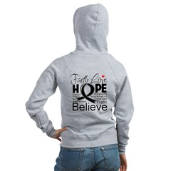 Faith Hope Melanoma Women's Zip Hoodie