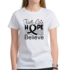 Faith Hope Melanoma Women's T-Shirt