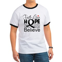 Faith Hope Melanoma Ringer T