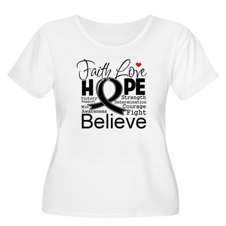 Faith Hope Melanoma Women's Plus Size Scoop Neck T