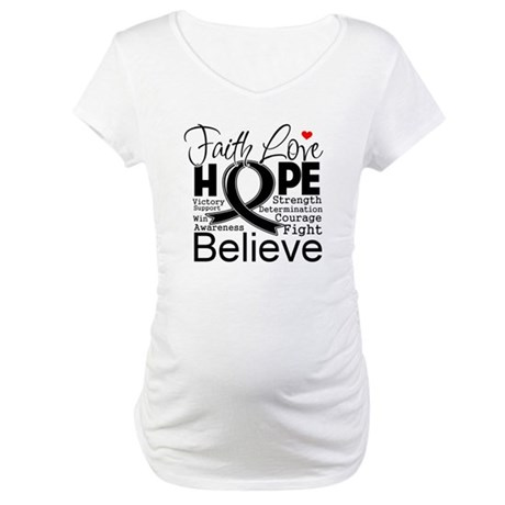 Faith Hope Melanoma Maternity T-Shirt