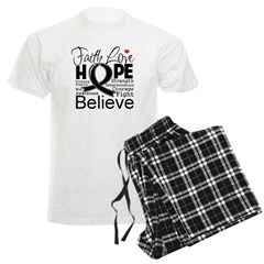Faith Hope Melanoma Men's Light Pajamas